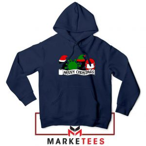 2020 Merry Christmas Navy Blue Hoodie