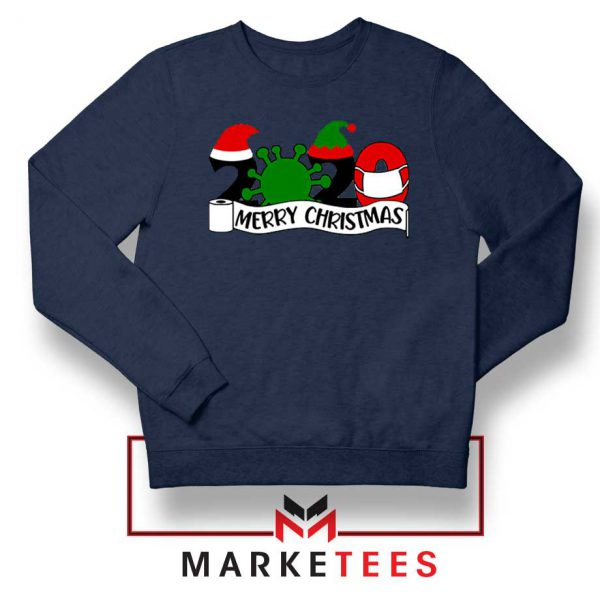 2020 Merry Christmas Navy Blue Sweatshirt