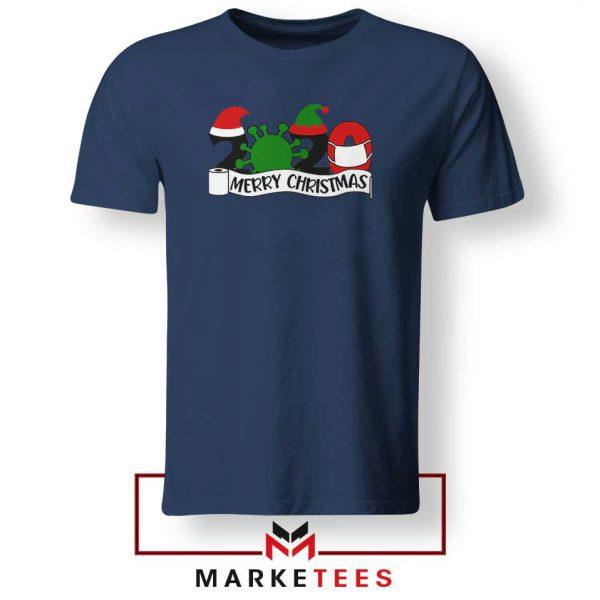 2020 Merry Christmas Navy Blue Tshirt