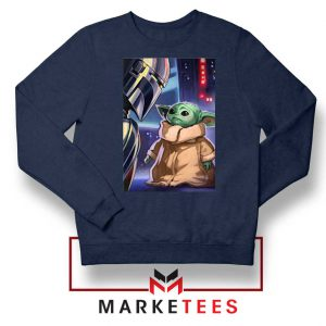 Baby Yoda The Mandalorian Navy Blue Sweatshirt