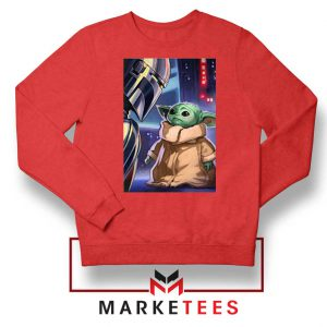 Baby Yoda The Mandalorian Red Sweatshirt
