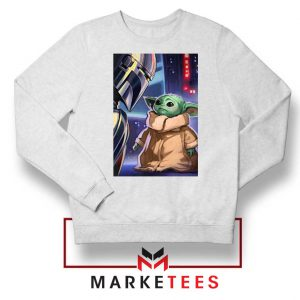 Baby Yoda The Mandalorian White Sweatshirt