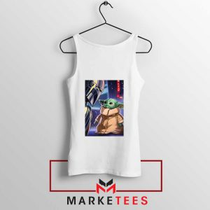 Baby Yoda The Mandalorian White Tank Top