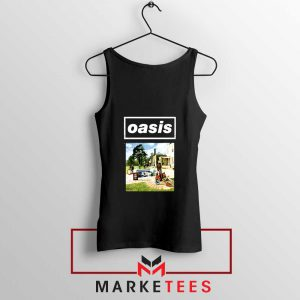 British Rock Band Oasis Black Tank Top