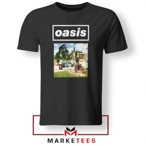 British Rock Band Oasis Black Tshirt