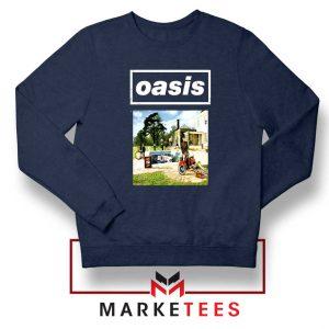 British Rock Band Oasis Navy Blue Sweatshirt