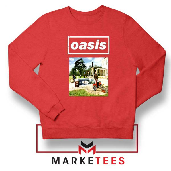 British Rock Band Oasis Red Sweatshirt