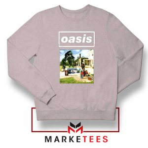 British Rock Band Oasis Sport Grey Sweatshirt