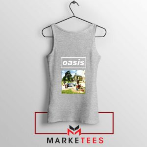 British Rock Band Oasis Sport Grey Tank Top