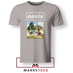 British Rock Band Oasis Sport Grey Tshirt