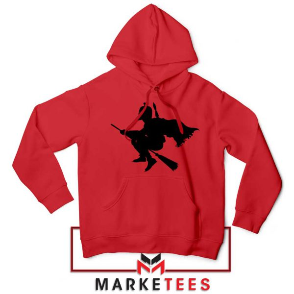 Darth Vader Riding Broomstick Red Hoodies