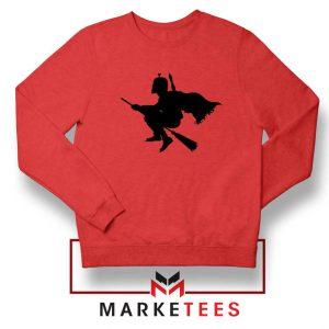 Darth Vader Riding Broomstick Red Sweatshirt