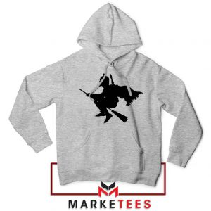 Darth Vader Riding Broomstick Sport Grey Hoodies