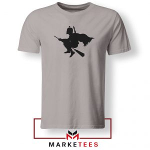 Darth Vader Riding Broomstick Sport Grey Tshirt