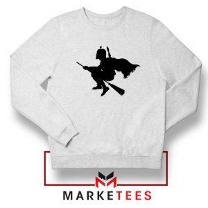 Darth Vader Riding Broomstick Sweatshirt