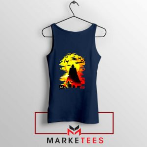 Darth Vader Silhouette Navy Blue Tank Top
