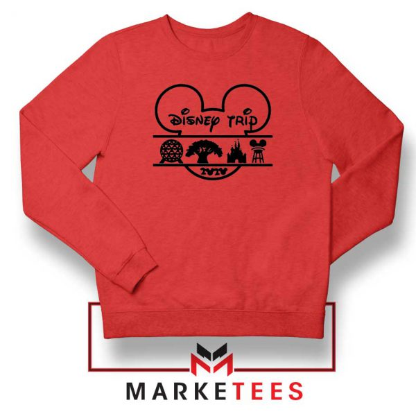 Disney Trip 2020 Red Sweatshirt