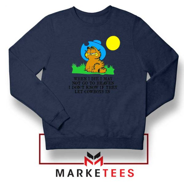 Garfield Cowboy Navy Blue Sweatshirt
