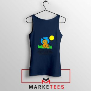 Garfield Cowboy Navy Blue Tank Top