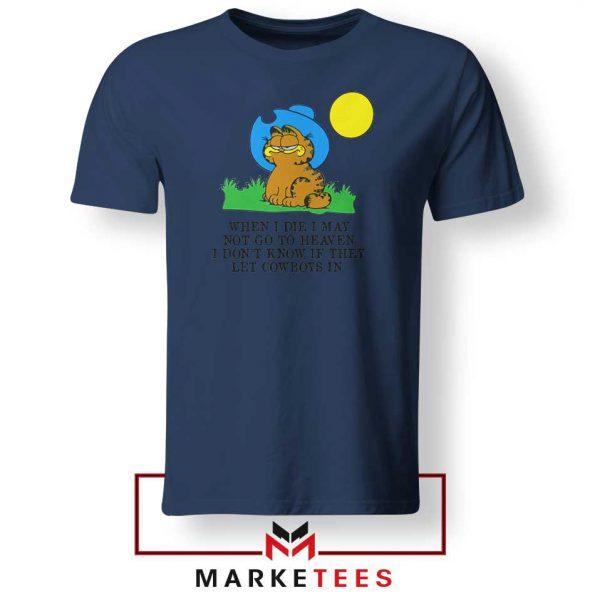 Garfield Cowboy Navy Blue Tshirt