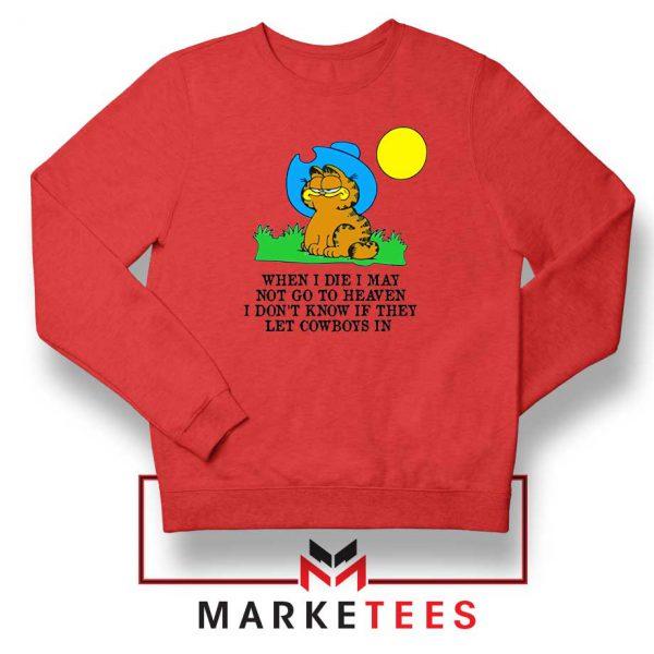 Garfield Cowboy Red Sweatshirt