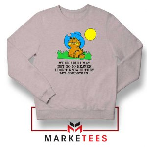 Garfield Cowboy Sport Grey Sweatshirt