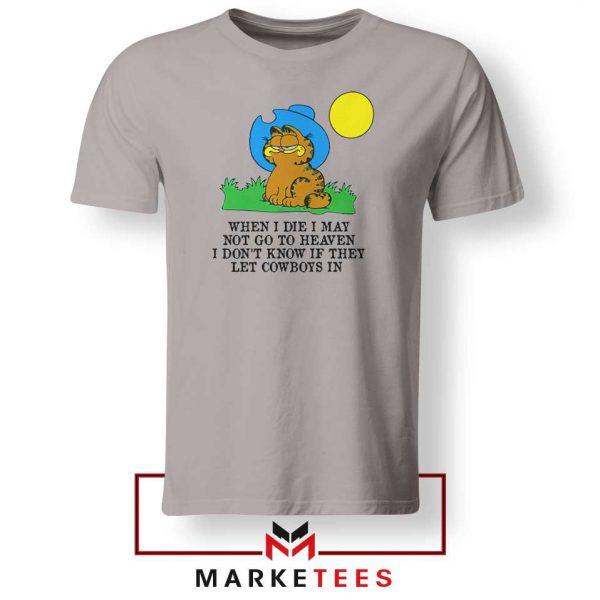 Garfield Cowboy Sport Grey Tshirt