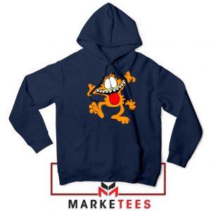Garfield Cute Navy Blue Hoodie