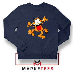Garfield Cute Navy Blue Sweatshirt