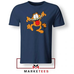 Garfield Cute Navy Blue Tshirt