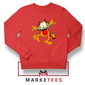 Garfield Cute Red Sweatshirt