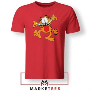 Garfield Cute Red Tshirt
