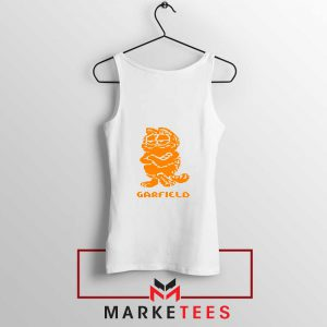 Garfield The Cat White Tank Top