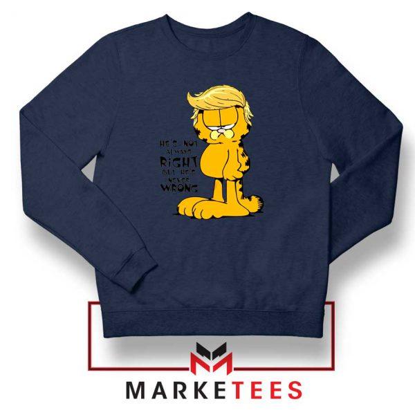 Garfield Trump Navy Blue Sweatshirt