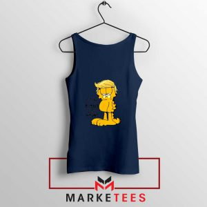 Garfield Trump Navy Blue Tank Top