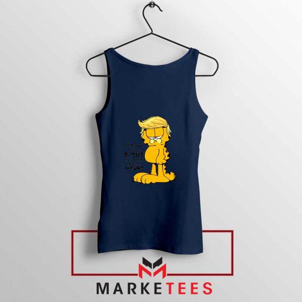 Garfield Trump Navy Blue Tank Top