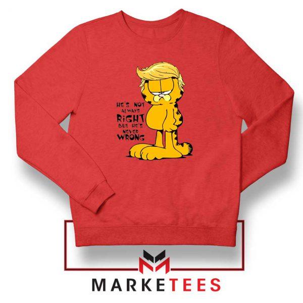 Garfield Trump Red Sweatshirt
