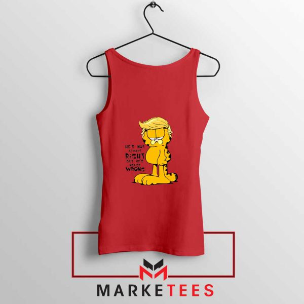 Garfield Trump Red Tank Top