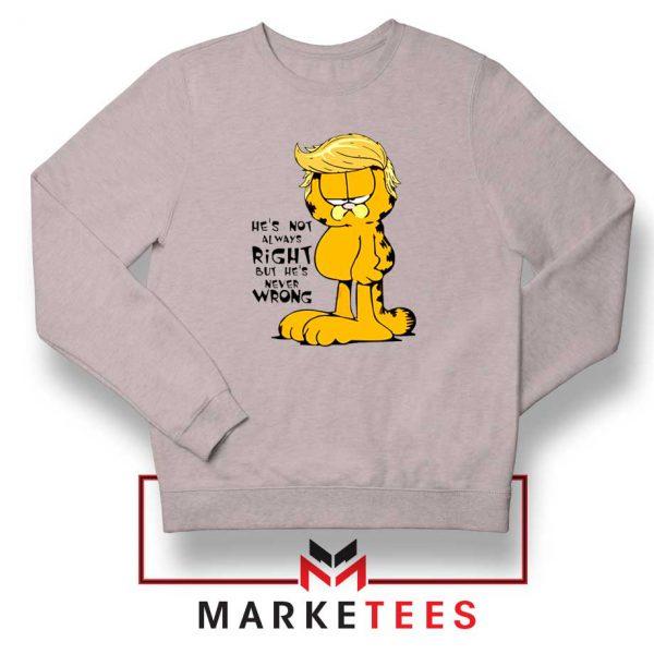 Garfield Trump Sport Grey Sweatshirt