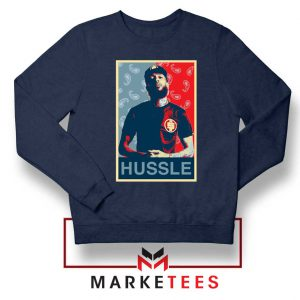 Hussle Rapper Navy Blue Sweatshirt