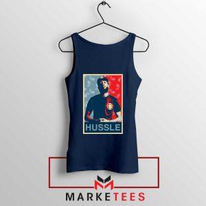 Hussle Rapper Navy Blue Tank Top