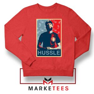 Hussle Rapper Red Sweatshirt