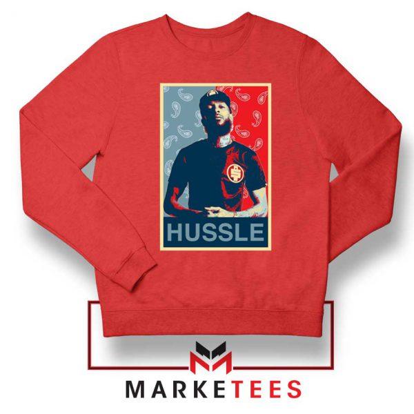 Hussle Rapper Red Sweatshirt