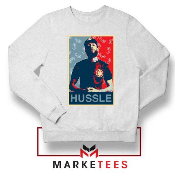 Hussle Rapper White Sweatshirt