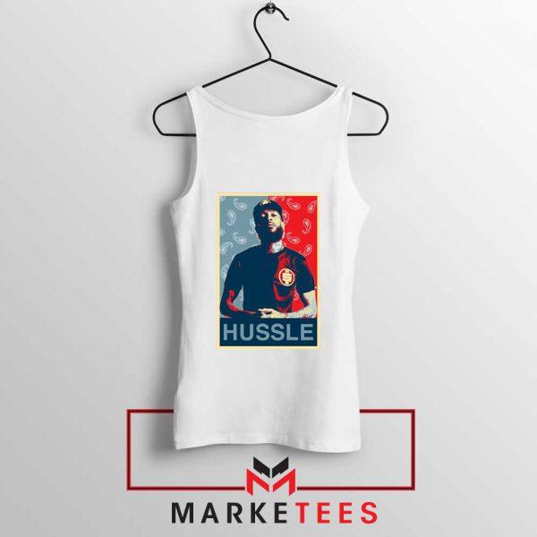 Hussle Rapper White Tank Top