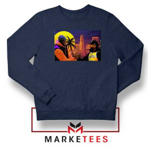 Kobe Bryant and Nipsey Hussle Navy Blue Sweatshirts