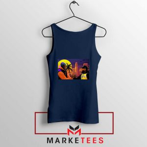 Kobe Bryant and Nipsey Hussle Navy Blue Tank Top