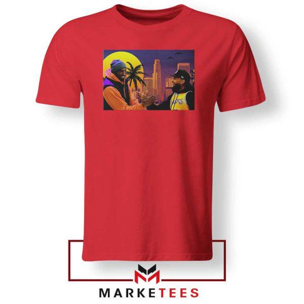 Kobe Bryant and Nipsey Hussle Red Tshirt