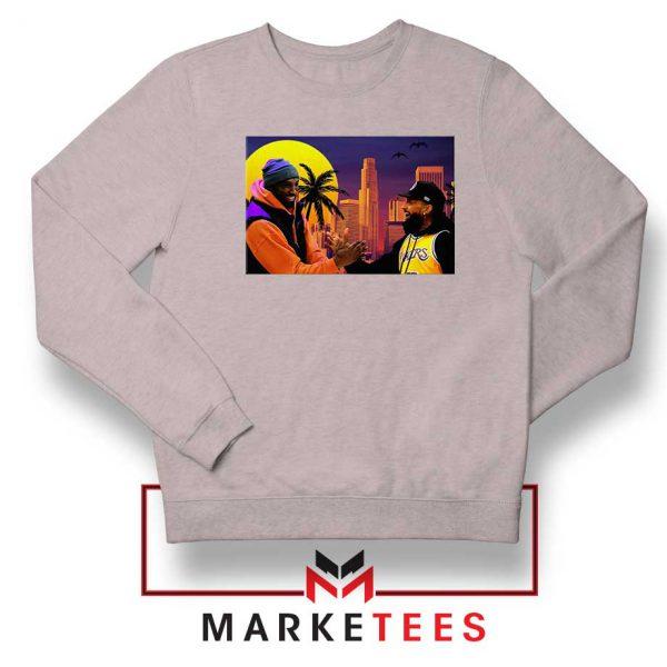 Kobe Bryant and Nipsey Hussle Sport Grey Sweatshirts