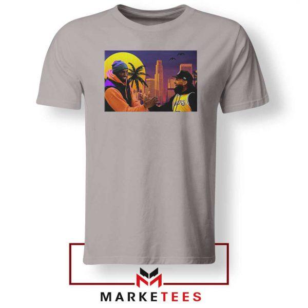 Kobe Bryant and Nipsey Hussle Sport Grey Tshirt